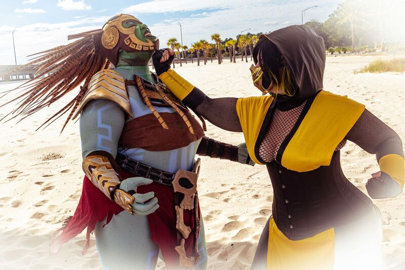 Scorpion - Mortal Kombat  Kotal Kahn is PandaLilly Cosplay